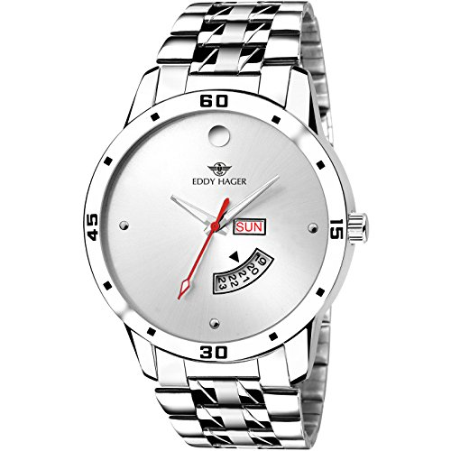 Eddy Hager Quartz Movement Analogue White Dial Men's Watch – EH-210-WH