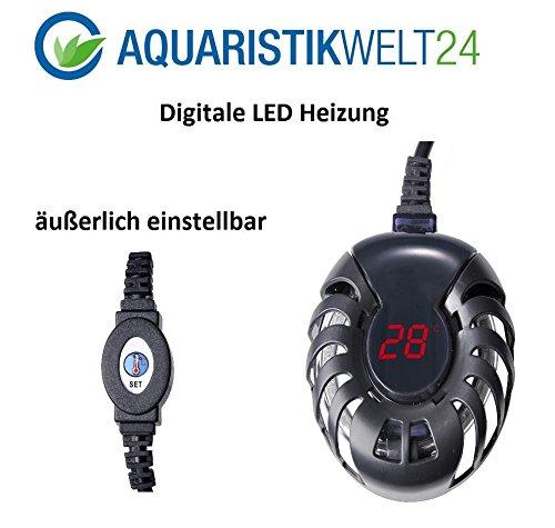 25 Watt Digitale Aquarium Heizung Heizer Regelheizer Süßwasser Meerwasser Aquaheat Aquarien Regelbar Wasser