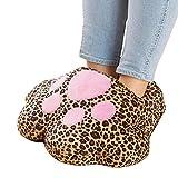 lzndeal Chauffe-Pieds Electrique Mignon Catclaw Chaud Treasure USB Pied Hiver Chaud Chaud En Peluche Chaussures