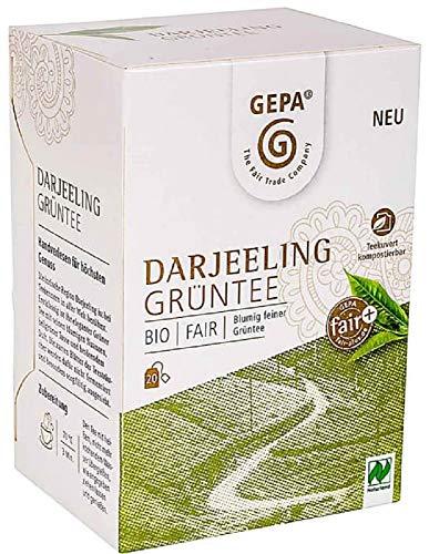 Gepa Bio Darjeeling Grüntee - 100 Teebeutel - 5 Pack ( 20 x 2g pro Pack)