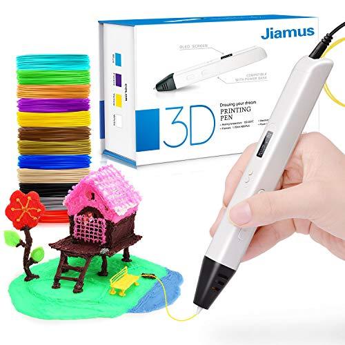 Stylo 3D Pour Les Enfants, 3D Stylo Avec Un Baquet De 12 Filaments PLA 3D Stylo d'impression écran à OLED Pour Les Enfants, Artiste...