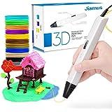 Penna 3D per Bambini,3D Penna con Filamento PLA da 1,75 mm Confezione da 12 Colori Diversi,Penna di Stampa 3D con Schermo OLED è Un Regalo Perfetto, Artisti, Adulti,Regalo di Compleanno