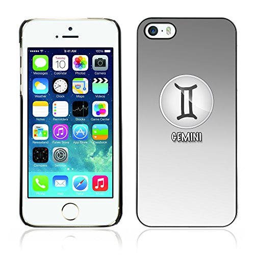 Graphic4You Virgo Jungfrau Horoskop Tierkreis Zeichen Design Harte Hülle Case Tasche Schutzhülle für Apple iPhone 5 und 5S Gemini