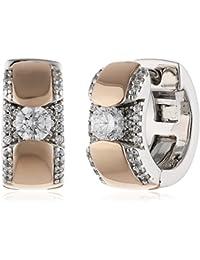 Esprit Damen-Creolen 925 Sterling Silber Zirkonia safira rose weiß ELCO92022B000