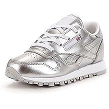 Reebok Classic Leather Metallic Kleinkinder Sneaker silber