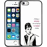 Actor Iphone SE 5 Cell Phone Audrey Hepburn Iphone 5s SE Phone Case Present for Man Audrey Hepburn Pretty Iphone 5 / 5s / SE Case