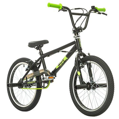 Probike, BMX 20 Zoll, Freestyle Bike, BMX, 360° Rotor-System, 4 stahl Pegs, Kettenschutz, Freilauf (Schwarz-Grün) (Bmx Freestyle Bike)