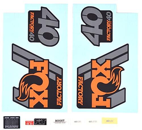 Fox Racing Shox Aufkleber Set Für 40 F S Orangematte Black 2020 Fahrrad Dvd