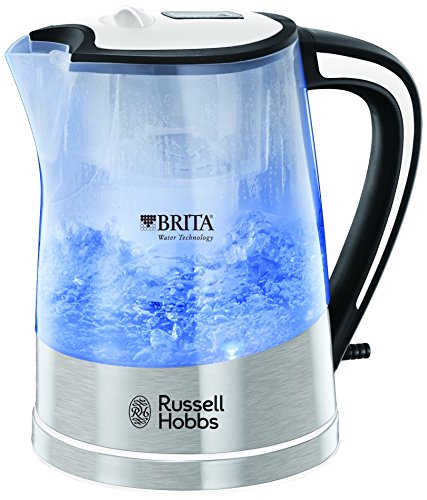 Russell Hobbs Plastic Brita Filter Purity Kettle 22851, 3000 W, 1 L - Transparent Best Price and Cheapest