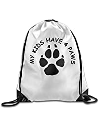 AlineAline Gym Drawstring Bag My Kids Have Four Paws Backpack Bag