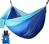 Utopia Home suprema hamaca de nylon admite hasta dos personas o 400 lbs porche patio interior acampar Azul