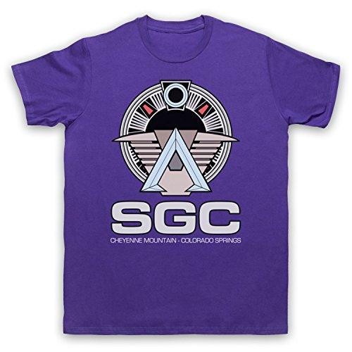 Inspiriert durch Stargate SGC Unofficial Herren T-Shirt Violett