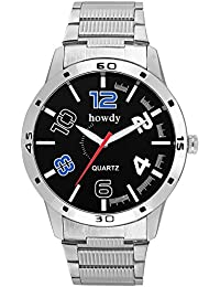Howdy Titanium Black Dial Analog Watch For Men & Boys (howdy-662)