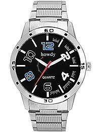 Howdy Titanium Black Dial Analog Watch For Men & Boys (howdy-662)