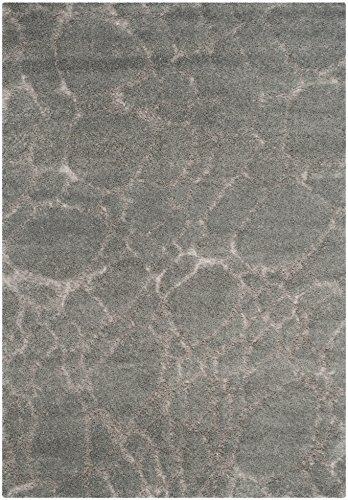 Safavieh Shaggy Teppich, SG05, Gewebter Polypropylen, Grau, 160 x 230 cm