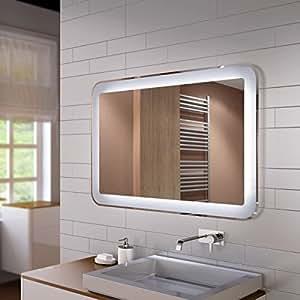 spiegel mit led innenbeleuchtung design linie de ohne rahmen auch mit heizung und nach ma. Black Bedroom Furniture Sets. Home Design Ideas