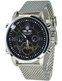 Constantin Durmont Herren-Armbanduhr XL Pasadena AnalogAutomatik Edelstahl CD-PASA-AT-STM-STST-BK