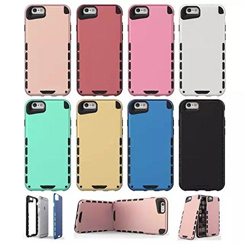 iPhone Case Cover IPhone 6 6S PLUS Housse, Solid Color 2 In 1 Nouveau Armure Tough Style hybride double couche Defender PC Hard Back Cover Housse anti-chocs pour IPhone 6 6S Plus ( Color : 6 , Size :  8