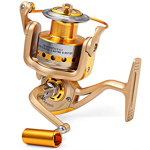 Baitcast-Spinning Fishing Reel Metall Spule carretilha Pesca Rad 9+ 1BB Kugellager 5,5: 1Angelrolle Köder für Süß-Salzwasser Angeln