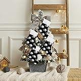 BOLIMAO 4 x schwarz-weiße Boxhandschuhe, Weihnachtssocken, Geschenktüten für Kinder, Plüsch-Manschette, hängende Strümpfe für Familie, Urlaub, Weihnachten, Party, Dekorationen, Samt, Multi, 6 Pcs