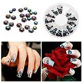 Bluelover 300pcs 3 tailles mixtes ongles strass roue de décoration