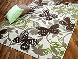 TrendLine Teppich Butterfly Braun Grün Beige in 4 Größen