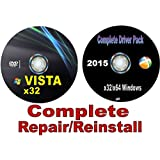 WINDOWS Vista Home Premium x32/32 Bit Repair/Recovery/Restore Boot Disc ~ Factory Fresh Re-install! Fix PC~ Complete w/Updated Drivers Disc for Windows and your PC/Laptop/Desktop ~Full Support Included~ SATISFACTION GUARANTEED or YOUR MONEY BACK!!!