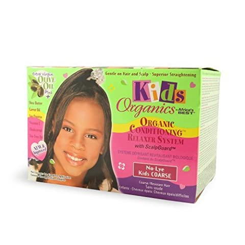 Africa'S Best Kids Organics No-Lye Conditioning Relaxer System With Scalpguard For Coarse/Resistant Hair (One Application) by Africa's Best