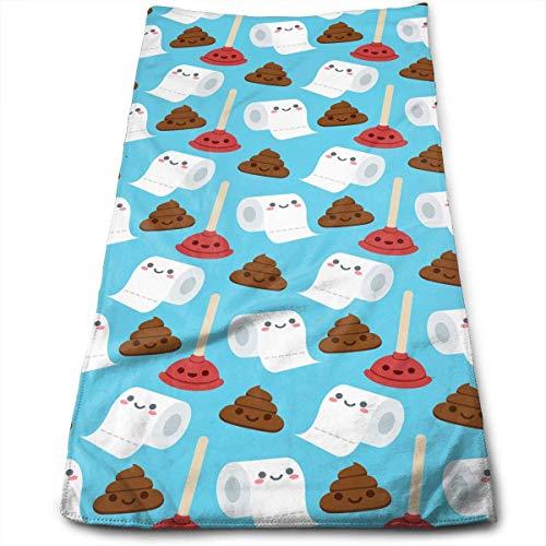 Hipiyoled Bathroom Cute Faces Toilet Paper Poo Maximale Weichheit und vielseitige Handtücher Reisegymnastik Home Office Handtuch