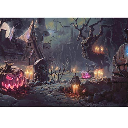 Xshuai Diamant Painting DIY 5D Voller Diamant Halloween Kürbis Kreuzstich Stickerei Kunst Handwerk Dekoration für Wohnzimmer Schlafzimmer (Kürbis 30x40cm A) (Und Handwerk Kunst Halloween-kürbis,)