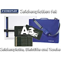STAEDTLER Mars® Zeichenplatten-Set A3 [Zeichenplatte + original Tasche und Faber Castell Bleistifte Set]
