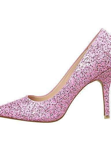 WSS 2016 Chaussures Femme-Extérieure / Bureau & Travail / Soirée & Evénement-Noir / Jaune / Rose / Rouge / Argent / Gris / Fuchsia-Talon Compensé- silver-us6 / eu36 / uk4 / cn36