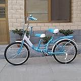 HUALQ Fahrrad 22-Zoll-Eltern-Kind-Fahrrad Mutter-Kind-Doppel-Shuttle-Pick-up-und Drop-Off-Kinder, Um Das gesamte Auto zu Lernen