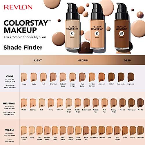 Revlon Colorstay Dispenser Pelle Normale e Mista, Fondotinta Natural Beige, 30 ml