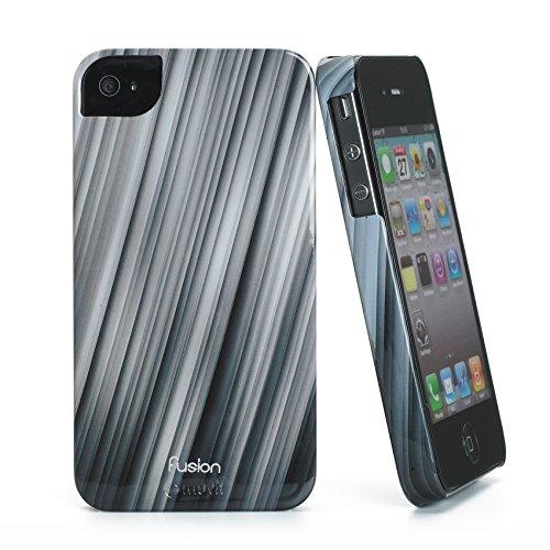Muvit Mubkc0479 Fusion Case für Apple iPhone 4/4S schwarz/grau schwarz