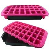 XXL Eiswürfelform Eiswürfelbereiter stapelbar pink 32 Jumbo Eiswürfel Silikon 800ml