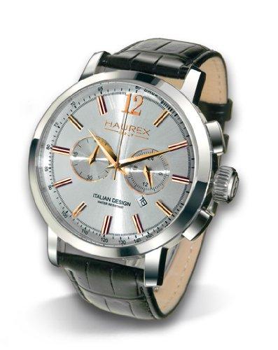 Haurex Italy 9A330USH Mens Maestro Silver Dial Watch