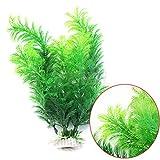 Aquarium Gras Pflanze, favolook Fisch Tank Aquarium Dekoration Grün Künstliche Kunststoff Unterwasser Gras Pflanze–30cm/30cm