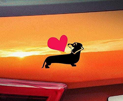 Love Dackel???Dogs on Board, PET Welpen, Animal Hochwertiger Kleber Pfoten golden Window Vinyl Aufkleber Aufkleber Hund