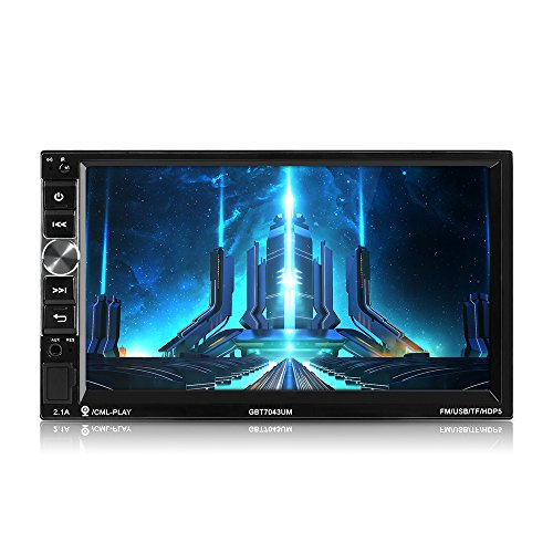 MiCarBa Doppel Din Auto Stereo Bluetooth Radio Video Player, 7 Zoll HD 1024 * 600 Touchscreen Auto Video Stereo, Auto MP5 Player Unterstützung FM Android Telefon Spiegel Link (CL7043) (Doppel-din Touch Screen Car Stereo)