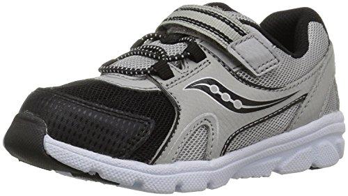 Saucony Boys' Baby Vortex Sneaker, Grey, 4 Wide US Toddler -