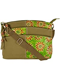 Only Leather Women's Sling Bag (Green)