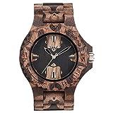 WEWOOD Reloj Analógico para Hombre de Cuarzo con Correa en Madera WW40001