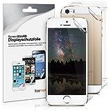 kwmobile Folienset: 3x Folie klar für Apple iPhone SE / 5 / 5S und 3x Schutzfolie Rückseite - klare Displayschutzfolie Crystal Clear kristallklar