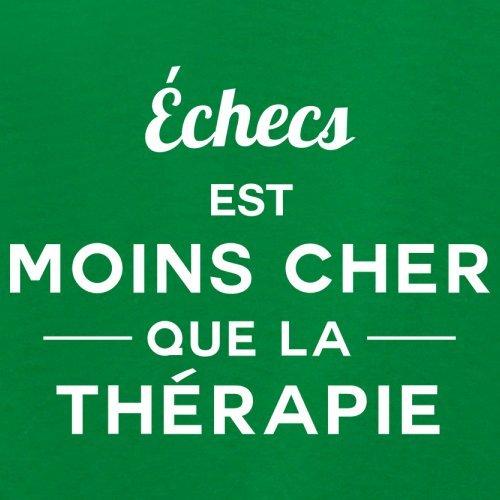 Échecs est moins cher que la thérapie - Femme T-Shirt - 14 couleur Vert