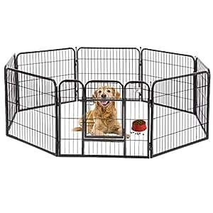 BestPet Heavy Duty Pet Playpen Dog Exercise Pen Cat Fence B, 32-Inch