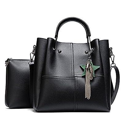 Patchwork à rayures Femmes Sacs à bandoulière en cuir Pu Sac Composite 2pcs Femmes célèbres Tassel sac sac à main femme fixe