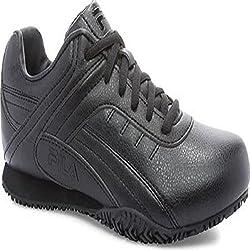Fila Womens Memory Elleray 5 Slip Resistant Shoe, Black/Black/Black, US 9. 5 M