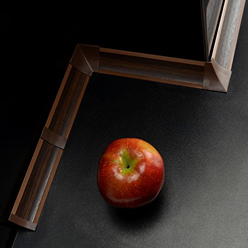 2,5m WINKELLEISTEN 23mm Farbe: Nuss dunkel + 15 dubel ABSCHLUSSLEISTE Winkelleisten Küche...