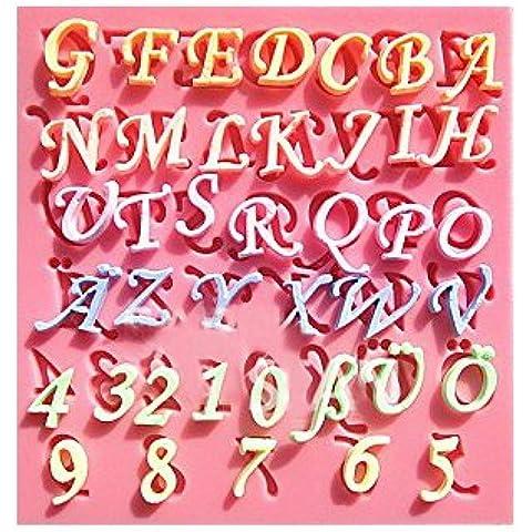 [Ever giardino] lettere muffa / candela / argilla / resina stampo stampa fine alfabeto di silicio / mano sapone / silicio / die-cut